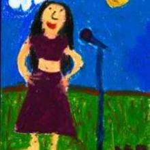 A chinese singer - Drawing for kids - KIDS drawings - WORLD drawings - ASIA - CHINA