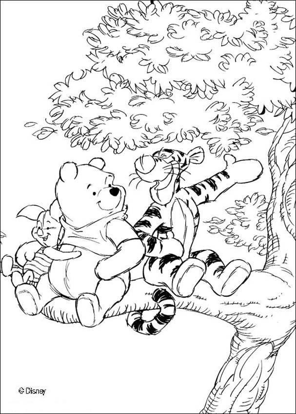 winnie the pooh coloring pages winnie 39 s friends tigger and piglet