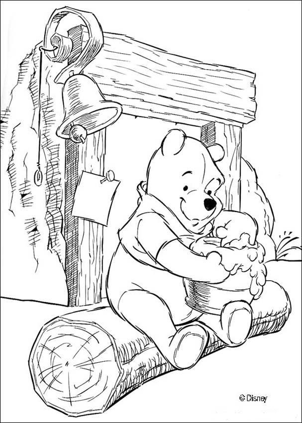Honey Break coloring page
